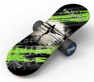 Баланс борд Elements Surf, Black длина 100 см